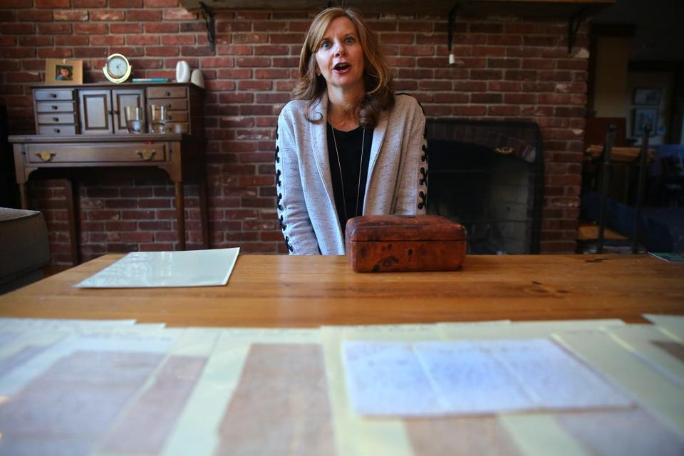 Ellen B. Alden found the letters and photographs in 2012 in her Andover attic.